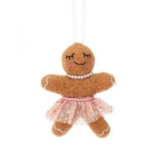 Kersthanger vilten gingerbread Sass & Belle