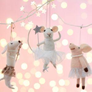 Kersthanger vilten muis tutu Sass & Belle