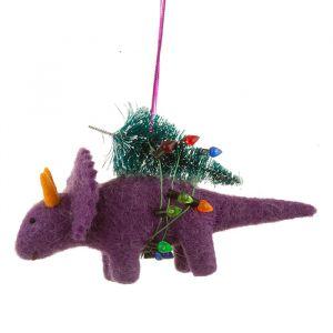 Kersthanger vilten dinosaurus Sass & Belle