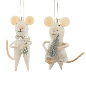 Kersthangers vilten muizen kerst Sass & Belle