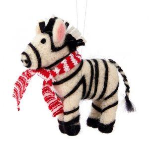 Kersthanger zebra vilt Sass & Belle