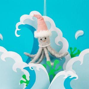 Kersthanger wonderland octopus vilt Sass & Belle