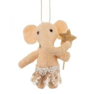 Kersthanger olifant in tutu vilt Sass & Belle