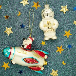 Kersthanger astronaut met ster Sass & Belle
