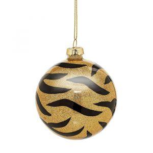 Kerstbal tijgerprint Sass & Belle