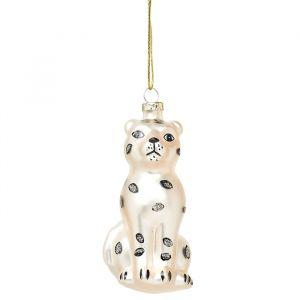 Kersthanger luipaard wit Sass & Belle