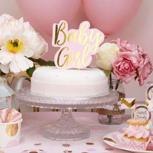 Taarttopper Baby Girl Pattern Works Pink