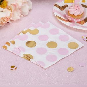 Servetten dots Pattern Works Pink (16st)