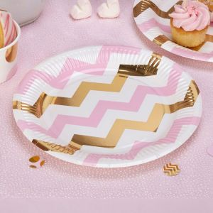 Bordjes chevron Pattern Works Pink (8st)