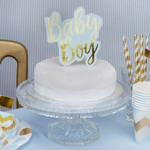 Taarttopper Baby Boy Pattern Works Blue