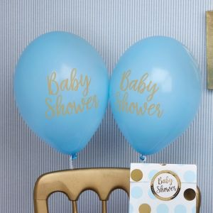 Babyshower ballonnen Pattern Works Blue (8st)