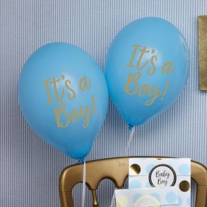 It's a Boy ballonnen Pattern Works Blue (8st)