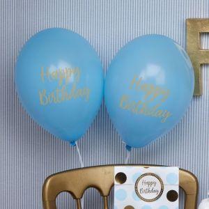 Happy Birthday ballonnen Pattern Works Blue (8st)