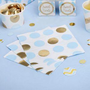 Servetten dots Pattern Works Blue (16st)