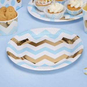 Bordjes chevron Pattern Works Blue (8st)