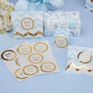 Stickers Baby Boy Pattern Works Blue (25st)