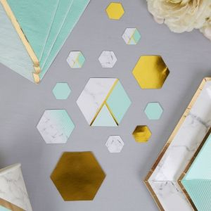 Tafelconfetti Colour Block Marble Mint