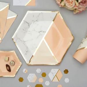 Borden (8st) Colour Block Marble Peach