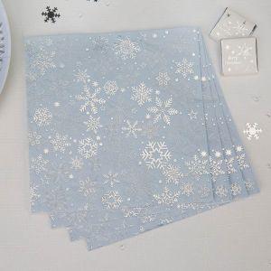 Servetten Iridescent sneeuwvlok (16st)