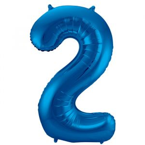 XL Folieballon 2 (86cm) Blauw