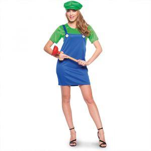 Luigi kostuum dames groen