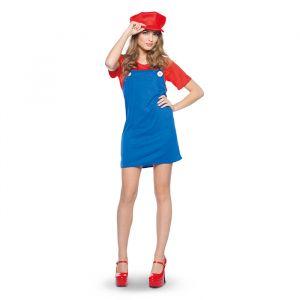 Super Mario kostuum dames rood (maat S/M)