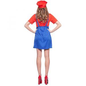 Super Mario kostuum dames rood
