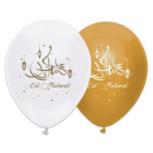Ballonnen Eid Mubarak goud (6st)