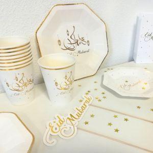 Bekertjes Eid Mubarak goud (8st)