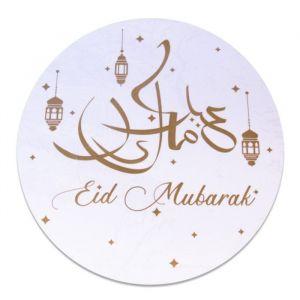 Raamsticker Eid Mubarak goud