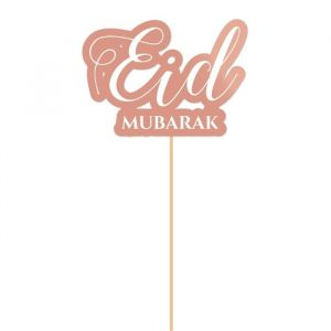 Taarttopper Eid Mubarak roségoud