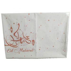 Tafelkleed Eid Mubarak roségoud 120x180cm