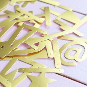 Letterslinger goud A Little Lovely Company