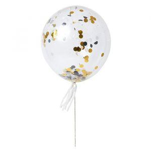 Ballonnenset Shine Zwart - Goud (8st) Meri Meri