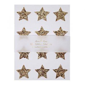 Gouden sterren stickers (120st) Meri Meri