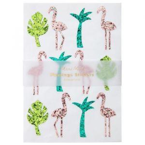 Glitter sticker Flamingo Meri Meri