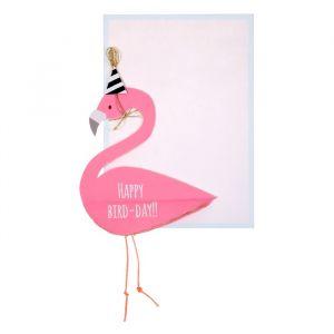Verjaardagskaart Flamingo Honeycomb Meri Meri