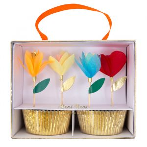 Cupcake set Bright Flower Meri Meri