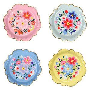 Gebaksbordjes Bright Floral (8st) Meri Meri