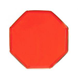 Gebaksbordjes rood (8st) Meri Meri
