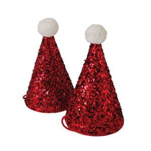 Kerst glitter mini feesthoedjes (8st) Meri Meri