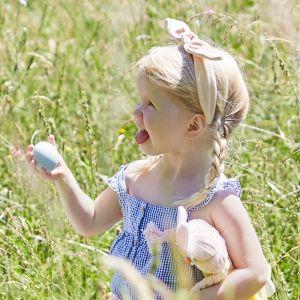 Haarband velvet konijnenoren roze Meri Meri