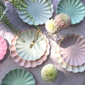 Gebaksbordjes Simply Eco koraal (8st) Meri Meri