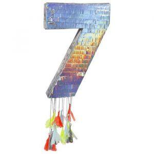 Pinata 40cm cijfer 7 holografisch Meri Meri