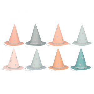 Heksenhoedjes Pastel Halloween (8st) Meri Meri