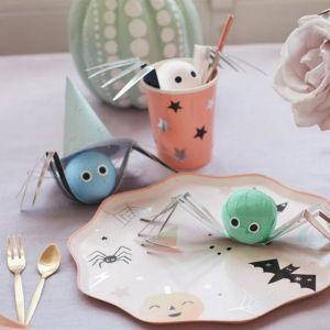 Suprise balls Spider Pastel Halloween (4st) Meri Meri