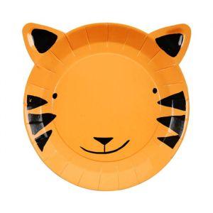 Gebaksbordjes tijger Go Wild (8st) Meri Meri