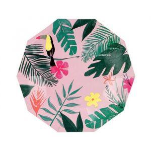 Gebaksbordjes Pink Tropical (12st) Meri Meri