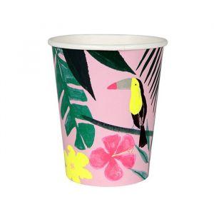 Bekertjes Pink Tropical (12st) Meri Meri