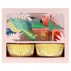Cupcake set Tropical Bird Meri Meri